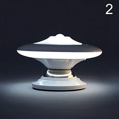 sfsgdf Bewegungsmelder-Nachtlicht Rotierende LED-UFO-Formlampe mit USB-batteriebetriebenem Nachthimmel