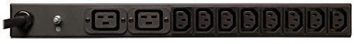 Tripp Lite Metered PDU, 20A, 10 Outlets (8 C13 & 2 C19), 200-240V, C20 / L6-20P Adapter, 12 ft. Cord, 1U Rack-Mount Power, TAA (PDUMH20HV) - Power-amp-rack