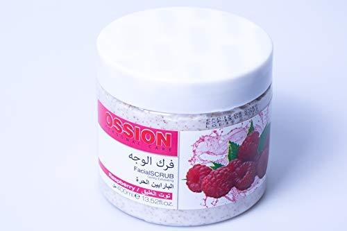 Gesicht Himbeere (Morfose Ossion Himbeere Körper Gesicht und Hände Peeling 400ml Facial Scrub Rasberry Pflege Care Sensible tiefe Reinigung)