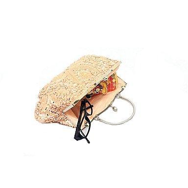 Frauen Abend Tasche Baumwolle alle Jahreszeiten formale Casual Event/Party Hochzeit Minaudiere Pailletten Verschluss Lock Ruby Silber Handtasche Kupplung mehr Farben Silver