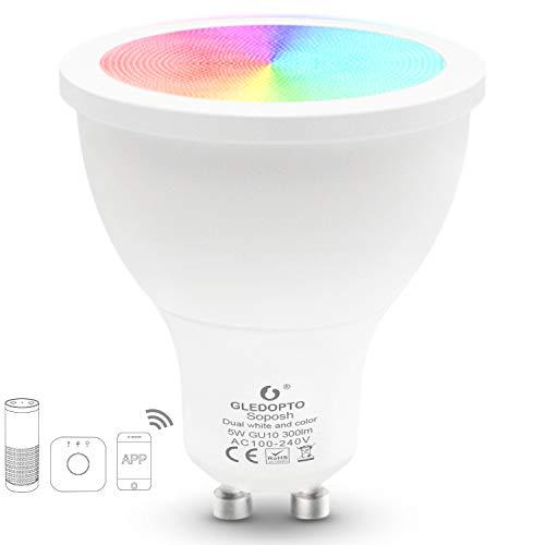 Gledopto Smart Spot 5W Dual White and Colour LED GU10 120 Degree...