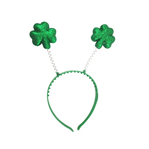 Tinksky Kleeblatt Stirnband Boppers St Patrick Tag Party Kleid Shamrock Haarband Kopfschmuck für irische Festival Party Dekorationen