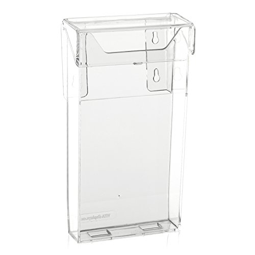 Wetterfeste Prospektbox/Prospekthalter mit Deckel (auch für den Aussenbereich) (DIN Lang (DL))