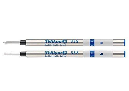 Pelikan 338 Tintenroller-Minen Schreibstärke M 2Stück Blau