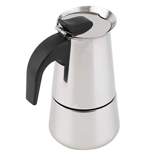 Heaviesk Cafetera Percoladora Estufa Cafetera con Tapa Moka Café expreso Latte Inoxidable