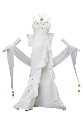 RedJade Fate/Grand Order Leonardo da Vinci Cosplay Kostüm White Gown Damen XXL