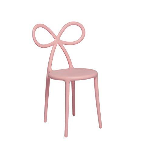 Qeeboo Ribbon Set Sedie, Polipropilene, Rosa, 45.5x49.5x83.5 cm