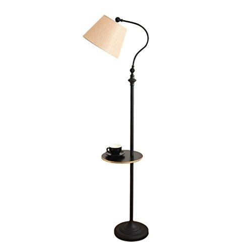 Home mall- Eisen Stehlampe | Moderne minimalistische Stil Stehlampe mit Eisen Tablett | für Wohnzimmer Schlafzimmer Arbeitszimmer 30X160cm (Farbe : Beige) -