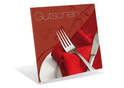 10 Gutscheinkarten Kleeblatt für Gastronomie, Restaurant - Gutschein'Romantik'