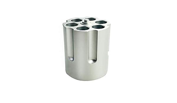 Drehgelenk Metall Bleistifthalter mit Pistolenzylinder-Design Gewehrzylinder rutschfest f/ür B/üro und B/üro strapazierf/ähig Stifthalter mit 6 L/öchern