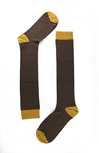 Naive OXF34L Calcetines altos, Marrón 34, 43/46 (Tamaño del fabricante:G) para Hombre