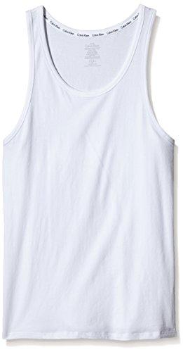 Calvin Klein Weste (Calvin Klein Herren Top 2P TANK, Gr. X-Large, Weiß (WHITE 100))
