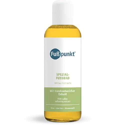 Fußpunkt Spezial Fußbad mit Hornhautweicher Extrakt Urea 15% und Aloe Vera, 150 ml