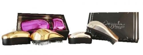 Dessata Bright Edition 2 Coffret cadeau comprenant 1 brosse classique et 1 mini brosse Chromé bronze