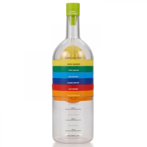 BestOfferBuy-Bottle-Kitchen-Gadget-Juicer-Grinder-Shredder-Funnel-8PCS-Tool-Set