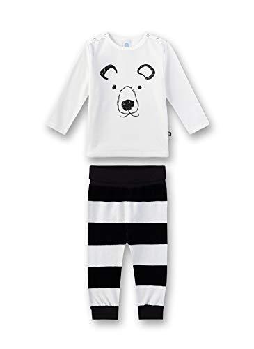 Sanetta Unisex Baby Pyjama Zweiteiliger Schlafanzug, Beige (Broken White 1427), (Herstellergröße: 104)