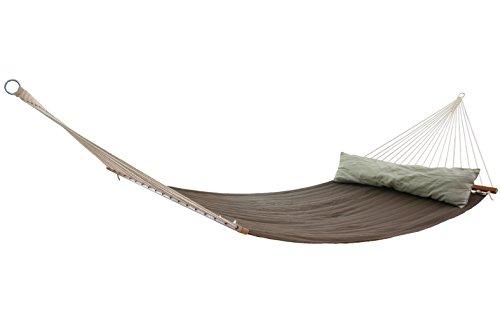 MacaMex MA-25401 Hängematte, California Terra KingSize Familienhängematte, 140 x 18 x 18 cm, braun