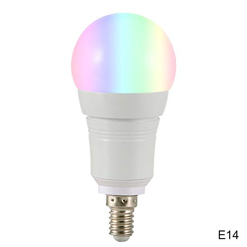 Dastrues WiFi E27 / B22 / E14 LED-Lampe, 16 Millionen Farben, für Google Home Amazon Alexa E14