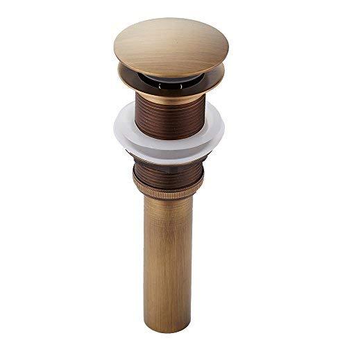 fach Design alle Messing Deko Pop Up Ventil Ablaufgarnitur Push Open Technik Waschbecken Ablauf ohne Überlauf ()