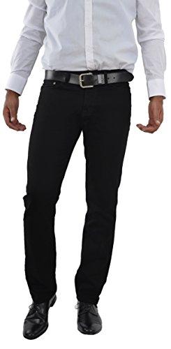 Herren Jeans Hose Straight Leg gerader Schnitt NEU Blue Petrol Jeanshose W30 bis W42 verfügbar (W38/L36, Schwarz / Black)