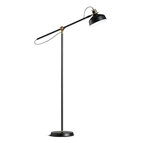 Stehlampe, nordische minimalistische Wohnzimmer Langen Arm Stehleuchte/Schlafzimmer Studie LED vertikale Schwarze Angel Lampe. -