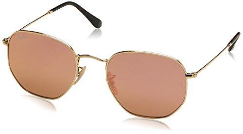 Preisvergleich Produktbild Ray-Ban RAYBAN Unisex-Erwachsene Sonnenbrille Hexagonal,  Gold (Gold / Copper Flash),  54