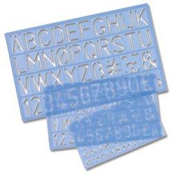 Helix 3Stück Schablone Set/Buchstaben Zahlen und Symbole 10mm 20mm 30mm H90100