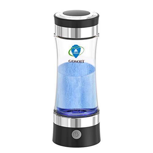GOSOIT Wasserstoff Wasser Ionisator Wasserstoff basisch Generator Maker Machen Flasche mit SPE und PEM Technologie, Wasserstoff Konzentration 800-1200 PPB PH 7,5-9,0 -