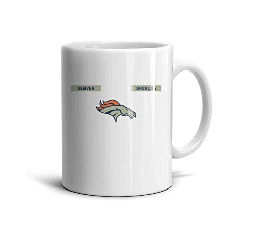 DIMAA White Ceramic 11 OZ Mugs Unique Coffee or Tea Mugs Tea Cup Friend,Dad,Grandpa,Brother Gifts,Denver Broncos-2,One Size Denver Broncos Travel Mug