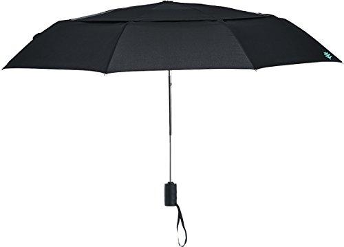 Coolibar Paraguas para Mujer pequeño Factor de protección UV de 50Plus, Mujer, UV-Schutzfaktor 50+, Negro, Talla única