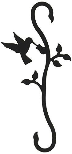 Schrank Organisatoren Schuhe (Village Schmiedeeisen 30,5cm Kolibri und Blüte S Haken, schwarz)