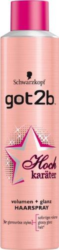 got2b Hochkaräter Volumen & Glanz Haarspray, Halt 4, 3er Pack (3 x 300 ml)