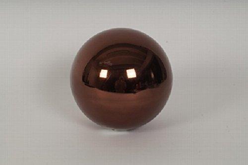 Boule Marron Boule décorative 2 pièces. Lot de 10 cm en acier inoxydable et 15 cm