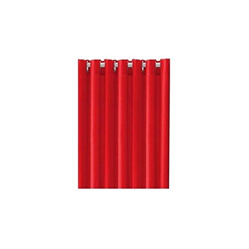 Today 257141Blickdichter Vorhang mit Ösen, Polyester, 140x 260cm, Polyester, Pomme d\'amour/Rouge, 140x260 cm