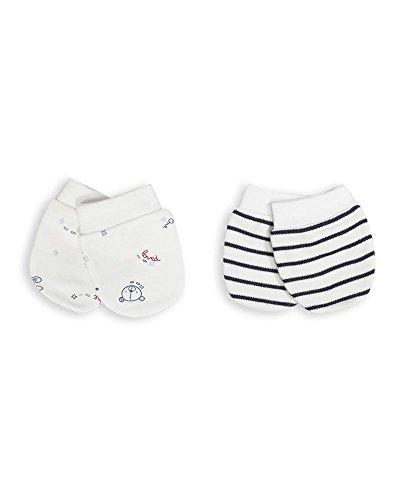 The Essential One -Baby Kratzhandschuhe für Neugeborene/Kratzfäustlinge/Kratzfäustel, Neugeborenenhandschuhe (2 Paar) - ESS106