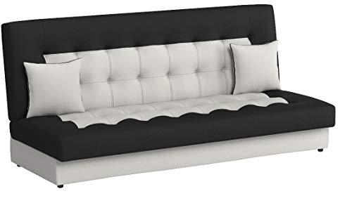 Modernes Sofa Neon mit Bettkasten und Schlaffunktion, Lounge Couch, Bettsofa Schlafcouch Schlafsofa (D511 + D8)