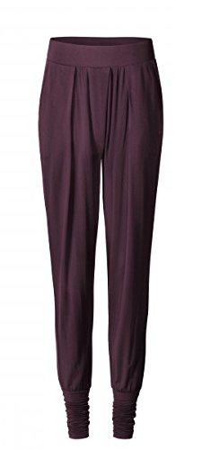 CURARE Yogawear Flow #157 wide pants cuffs, M, Farbe: kastanie