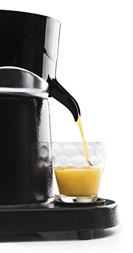 Lacor 69286 Exprimidor Zumo de Naranja eléctrico Profesional, Acero Inoxidable, Libre de BPA, 180 W, Aluminio Fundido