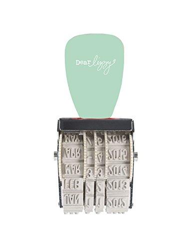 American Crafts 59177 Dear Lizzy, Rollstempel, Lucky Charm, 12 Sätze, Plastik/Metall, mint, 6,2 x 4,8 x 2,2 cm