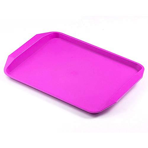 BSTLY placa plástica multi-especificaciones comida bandeja restaurante suministros de cocina púrpura 442 * 316mm