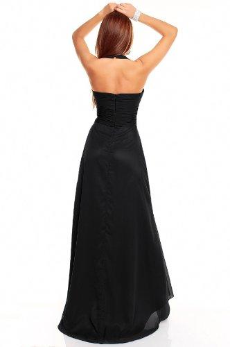 Neckholder Abendkleid Ballkleid Tanzkleid, verschiedene Farben Schwarz