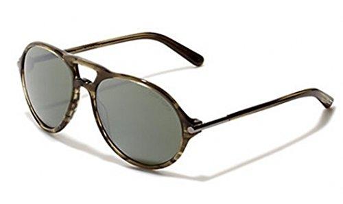 Tom Ford Für Mann 0245 Jasper Shiny Dark Green Tortoise / Gradient Green Kunststoffgestell Sonnenbrillen