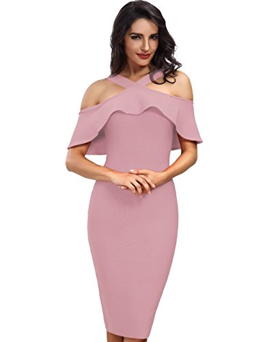 Adyce Bandage-Dress-Rosa Bodycon Sexy Midi Evening Partykleid Elegant Wedding Dress Luxury Cocktail...