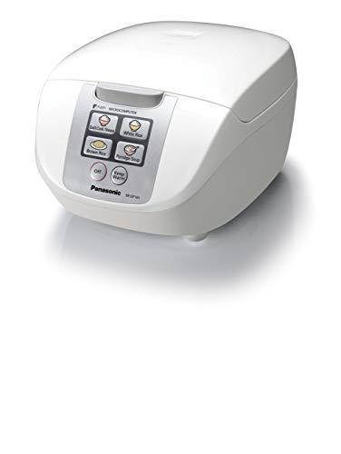 Panasonic SR-DF101 - Arrocera / Vaporera eléctrica de 1 l controlada por microordenador (750W, Fuzzy Logic, 6 programas de cocción preajustados, mantener caliente, compacto) color blanco