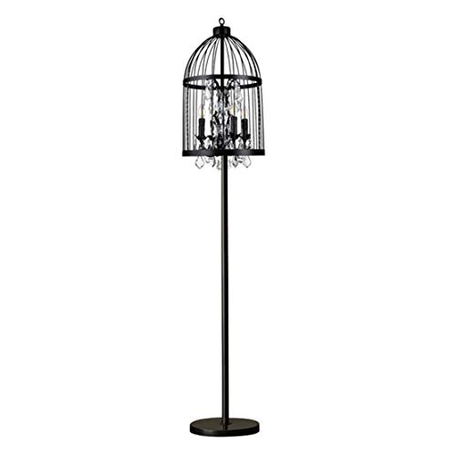 Baianju Amerikanischen Landhausstil Vogelkäfig Vertikale Licht Kristall Stehlampe Eisen Kunst Retro Licht Wohnzimmer Schlafzimmer Hotel Stehlampe