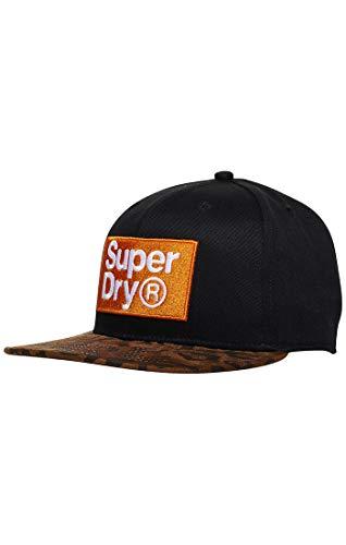Superdry Herren B_Boy Baseball Cap, Blau (Nubuck/Leopard Uh7), One Size (Herstellergröße: OS)