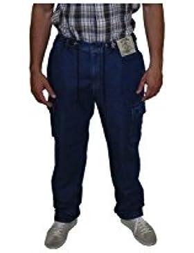 Pantalón Vaquero ligero largo Hombre Tallas Fuertes Sea Barrier Darcy bolsillos, 7XL