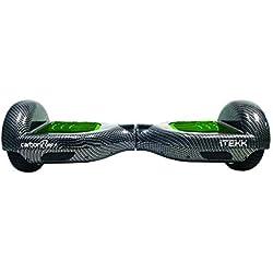"""Itekk Hoverboard 6.5'' Carbon Fluo Plus, Assicurazione AXA """"Tutela Famiglia"""" inclusa, Verde"""