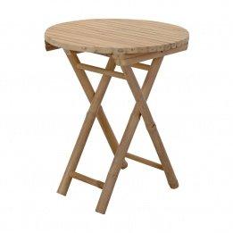Tisch Bambus rund Ø50cm Klapptisch Beistelltisch