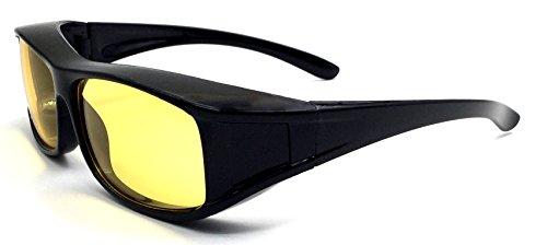 Überzieh-Nachtsicht-brille Unisex Polarisiert UV380 für Brillenträger Fit-Over Überbrille Sonnenbrille